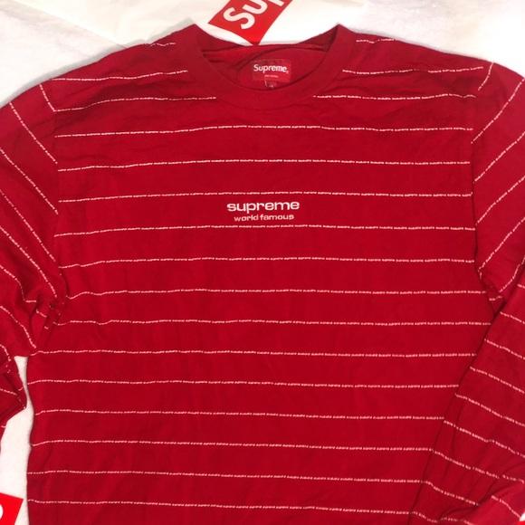 Supreme Shirts Striped World Famous